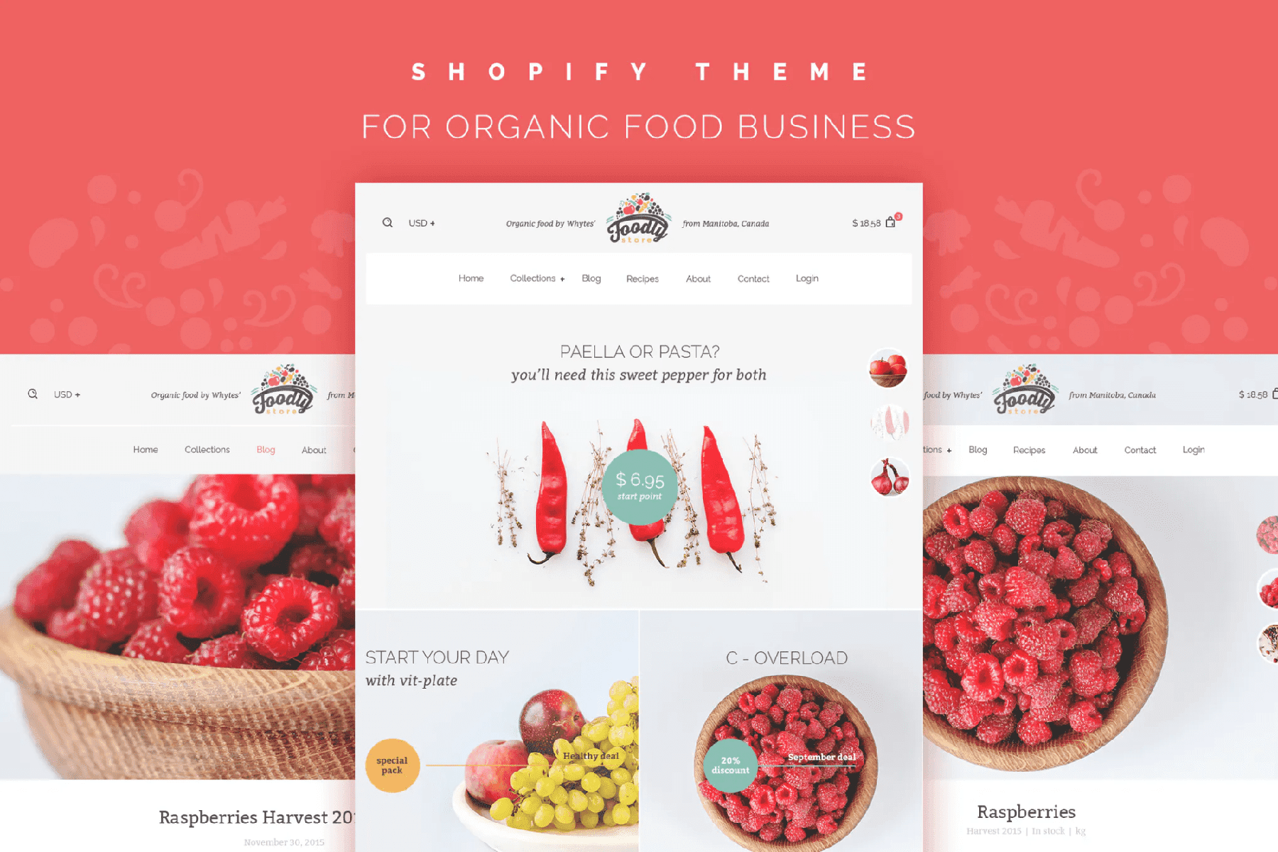 foodly shopify theme food brands