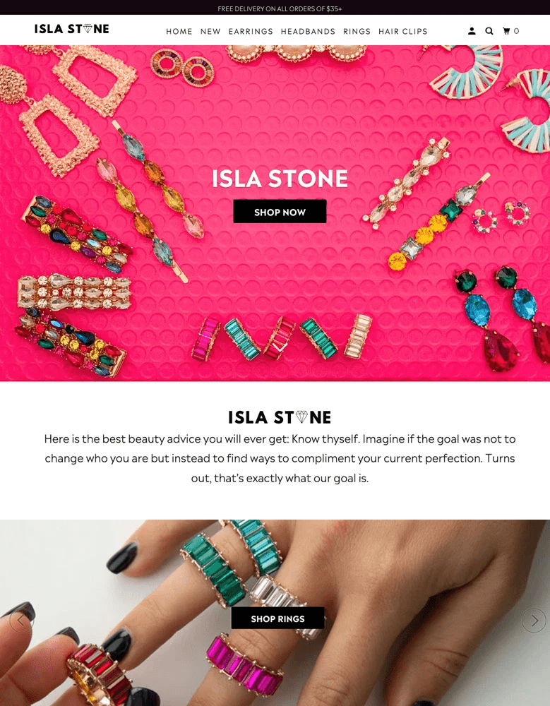 parallax shopify themes jewelry