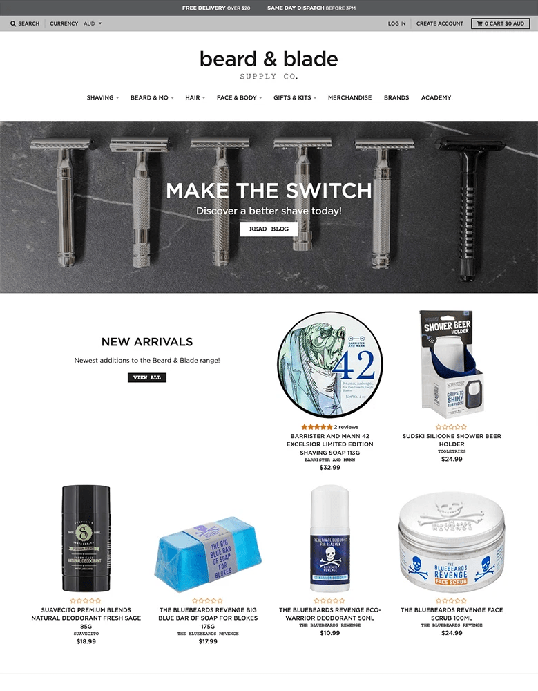 district shopify themes grooming beauty