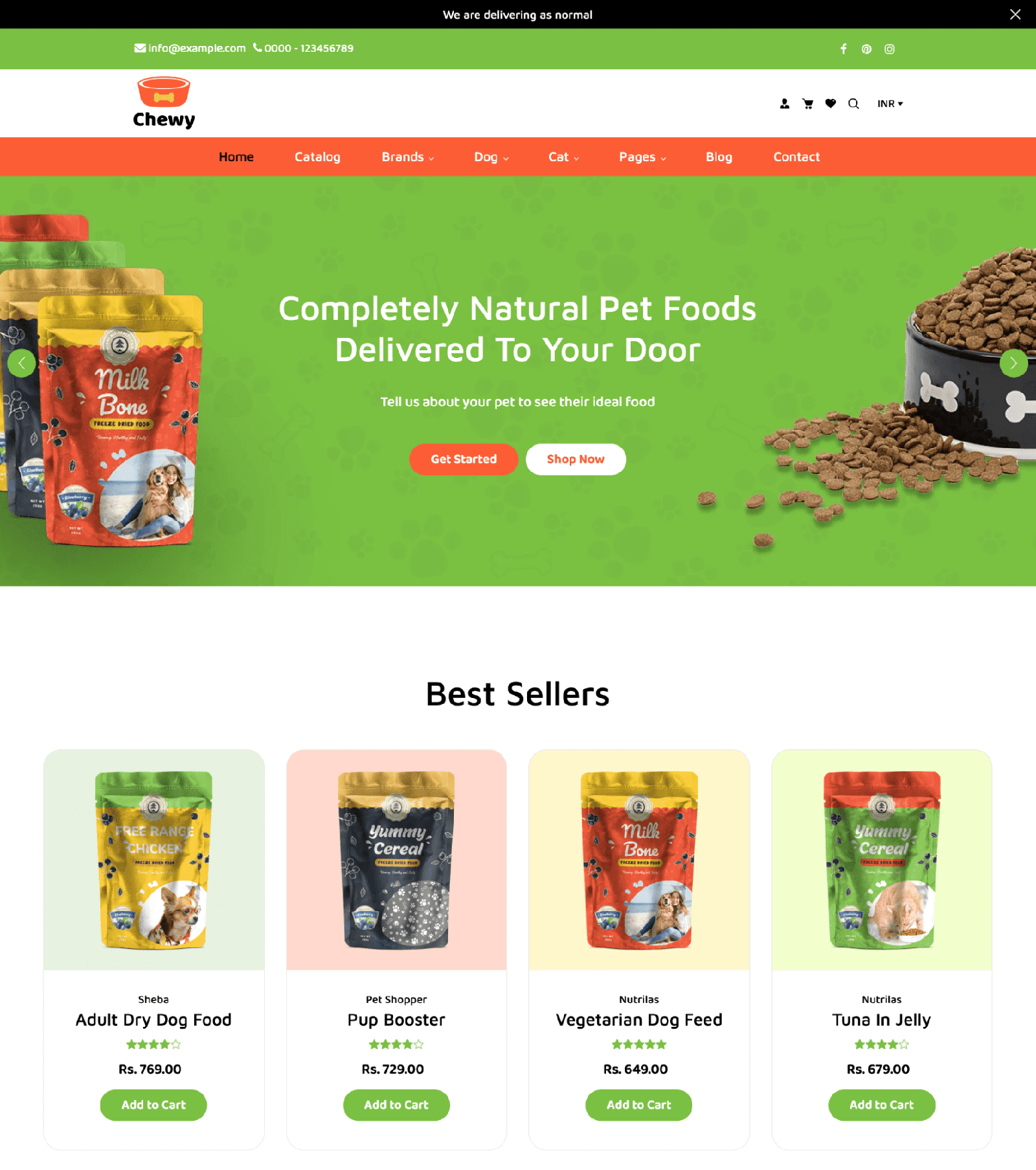 chewy shopify themes pet brands