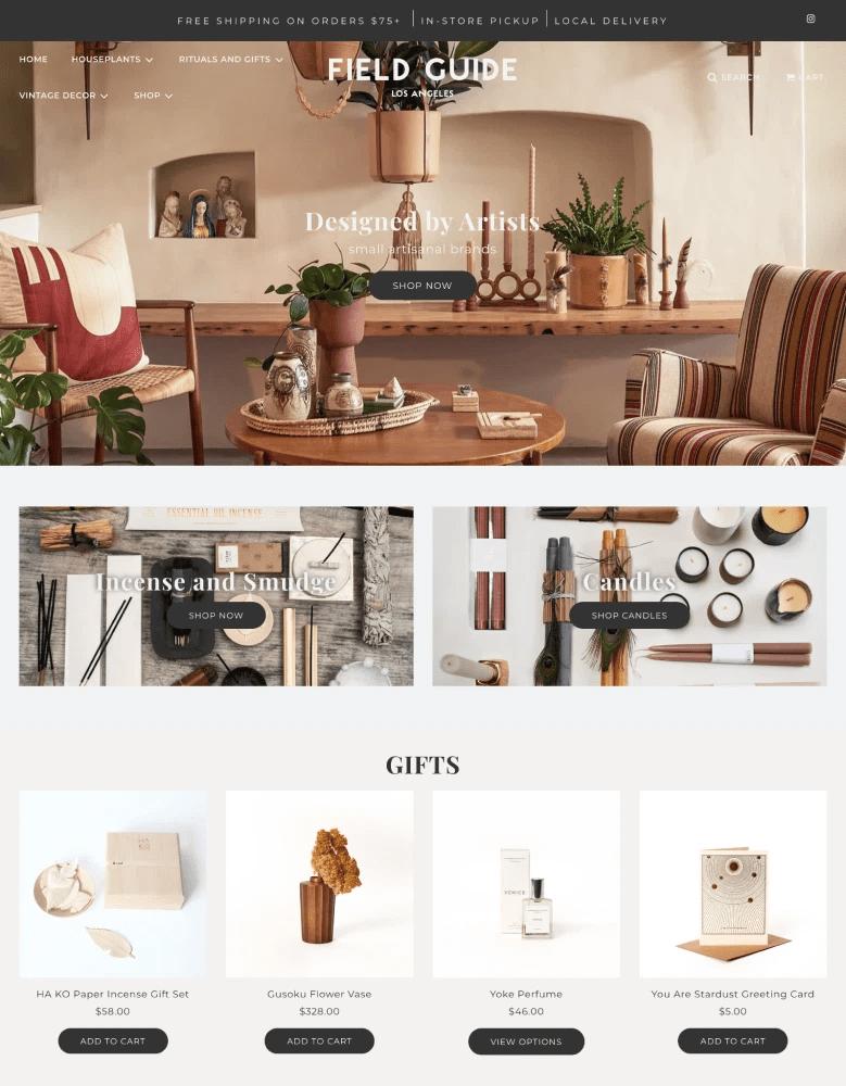 flow shopify themes housewares