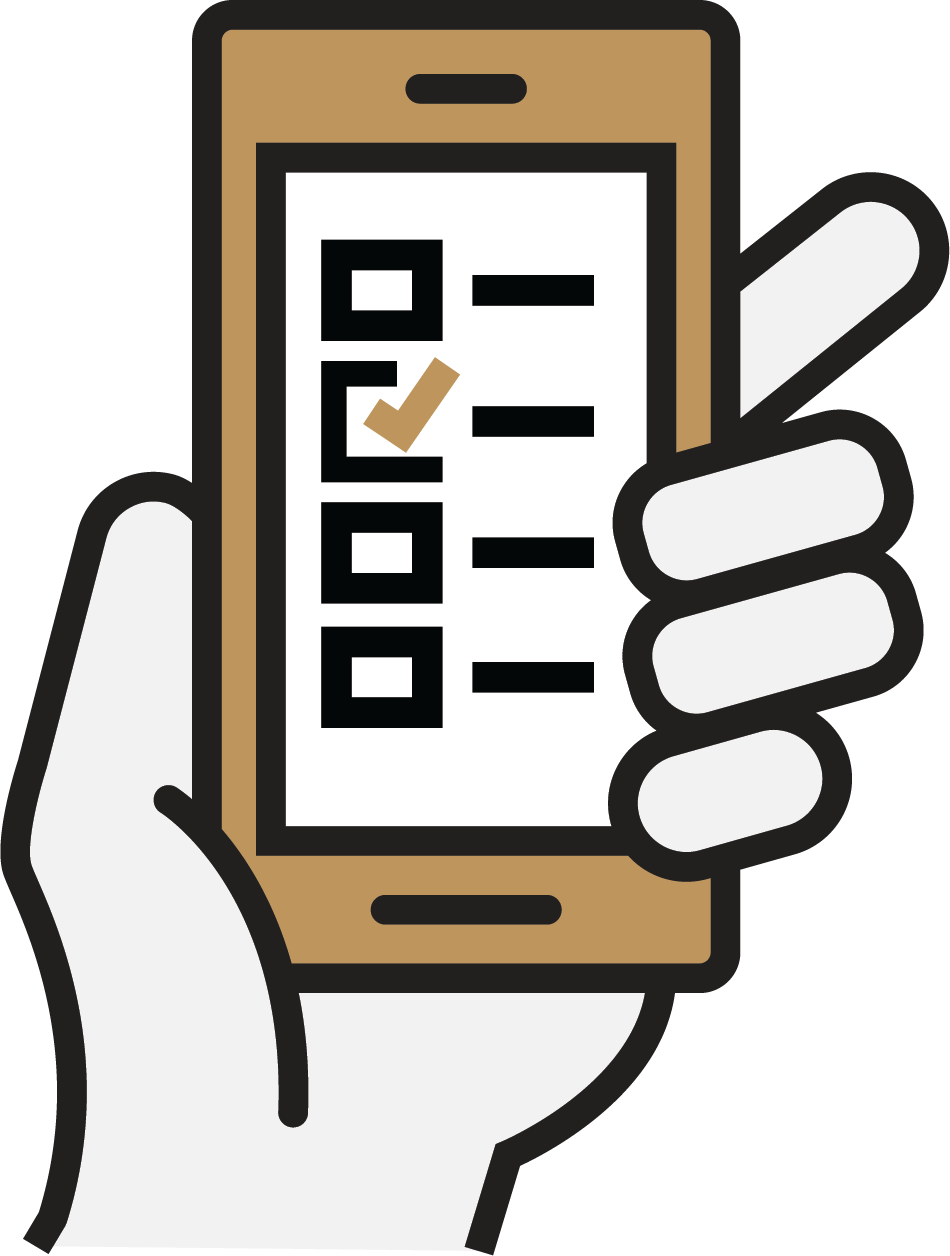 Image of a hand holding a cell phone with notifications on it.