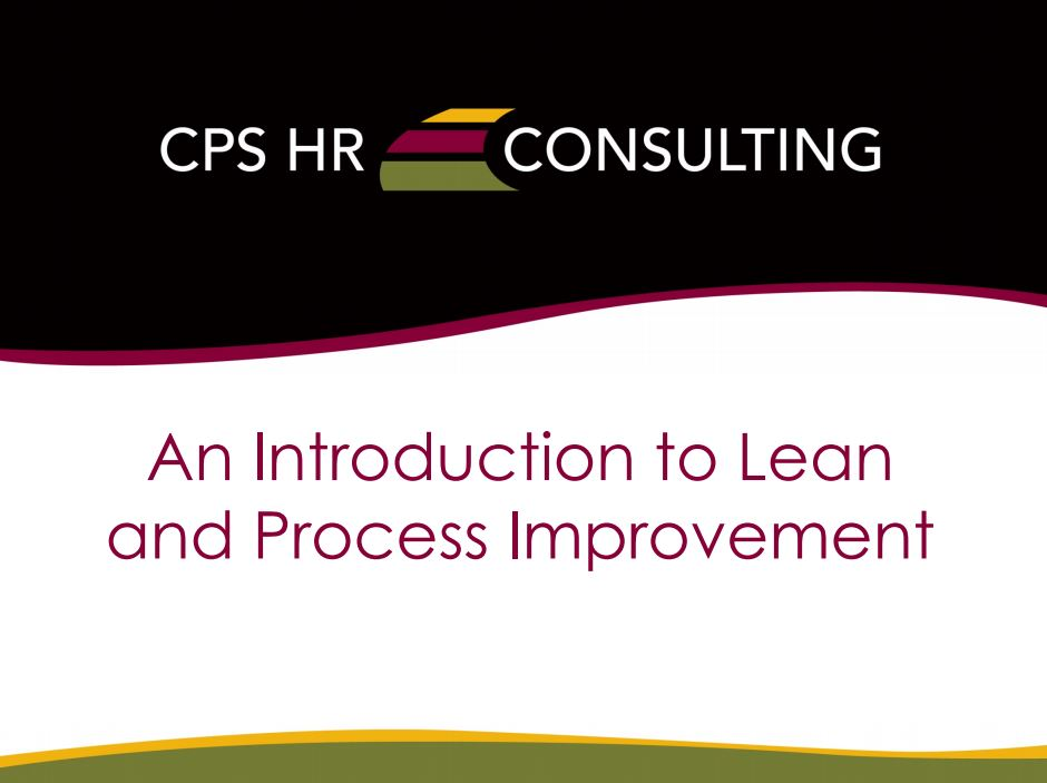 An Introduction to Lean and Process Improvement