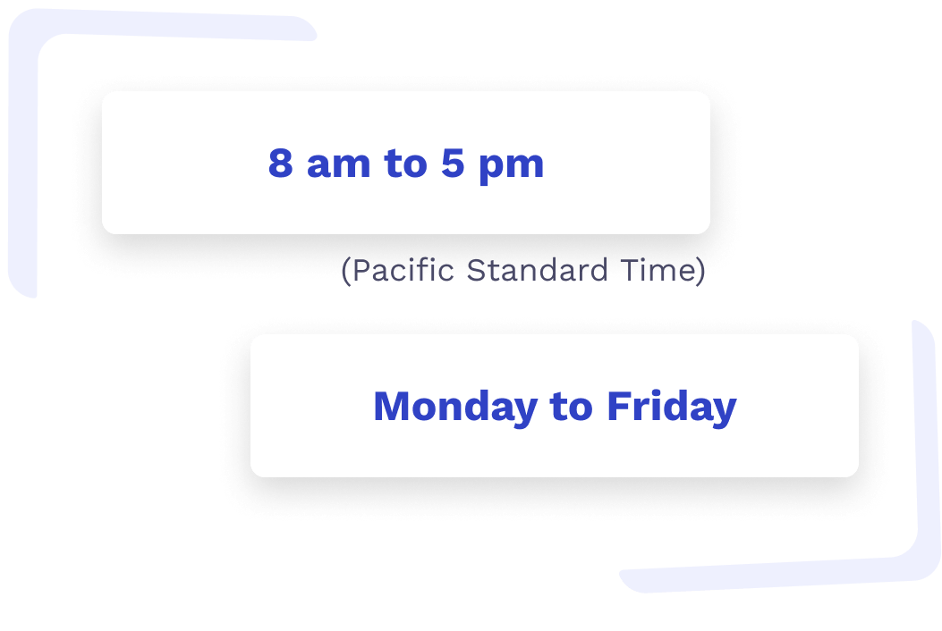Learnit office hours 8am to 5pm. Pacific Standard Time. Monday to Friday