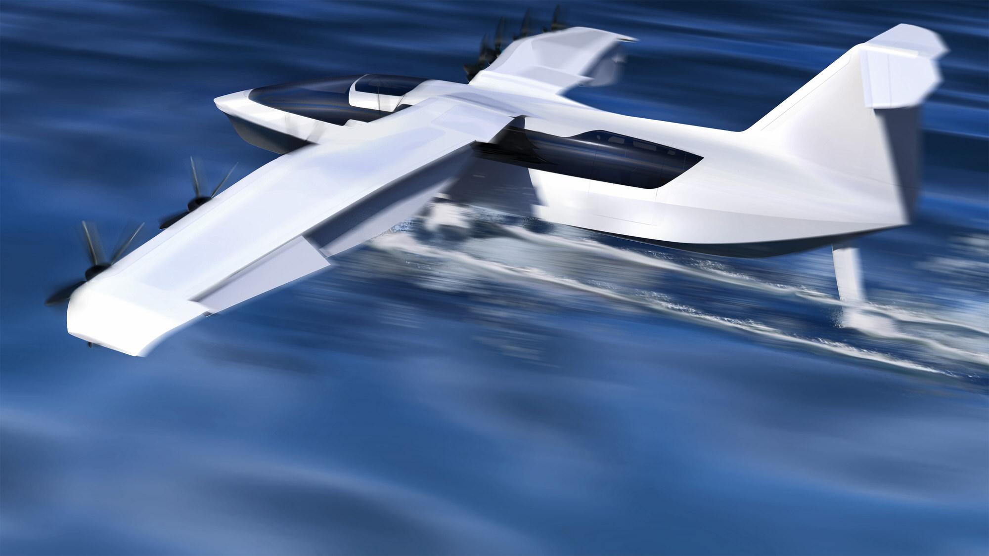 Regent Seaglider taking off
