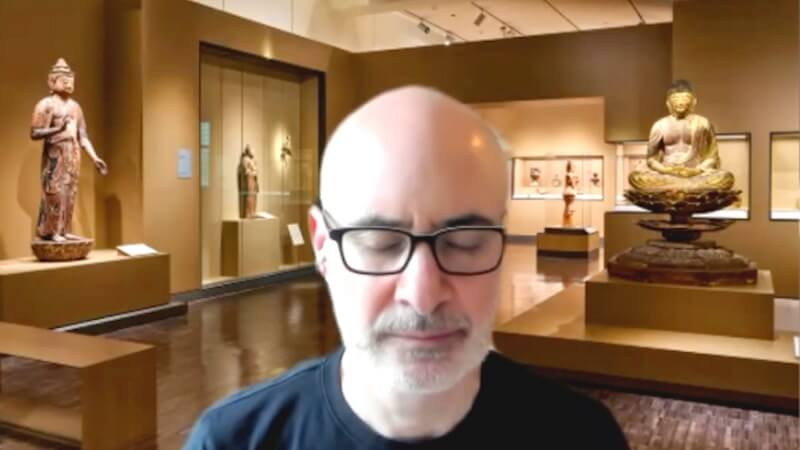 Dan Zigmond leading a session from the San Francisco Zen Center for the Asian Art Museum in February 2021