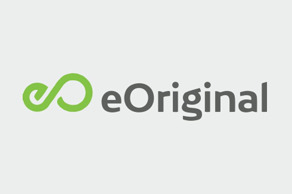 eOriginal logo on light gray background.
