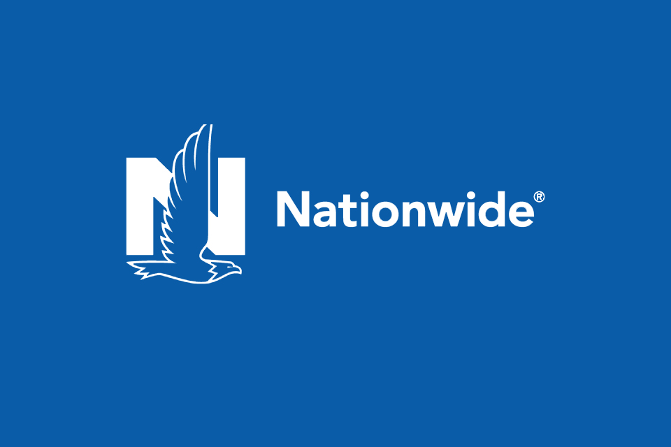 The Nationwide logo on a blue background