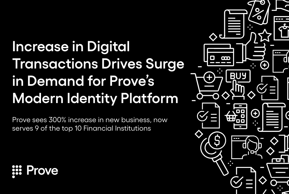 Prove Sees 300% Increase in YoY New Business Wins, Now Serves 9 of the Top 10 Financial Institutions