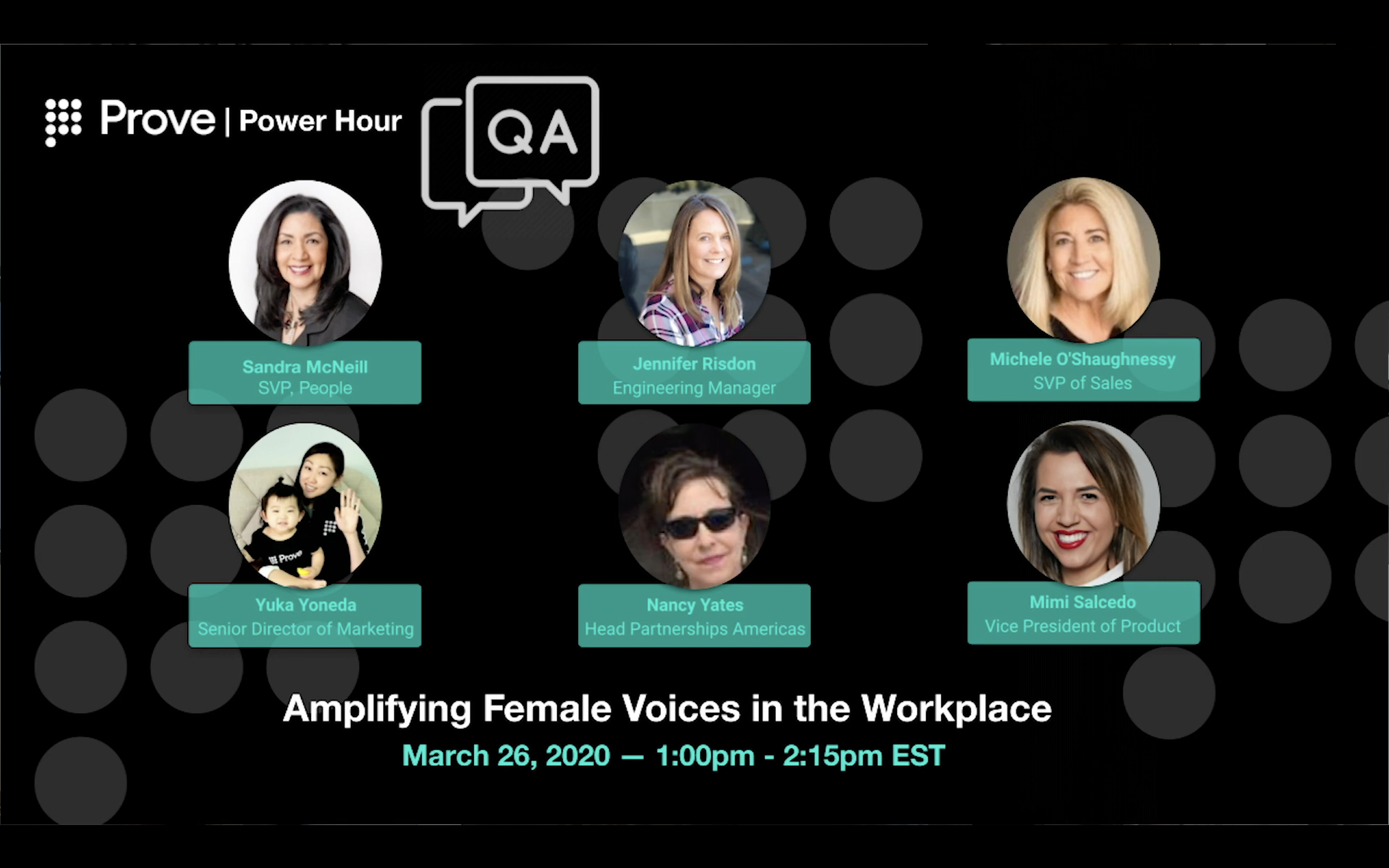 Prove Power Hour Amplifying Female Voices in the Workplace 3/26/2021