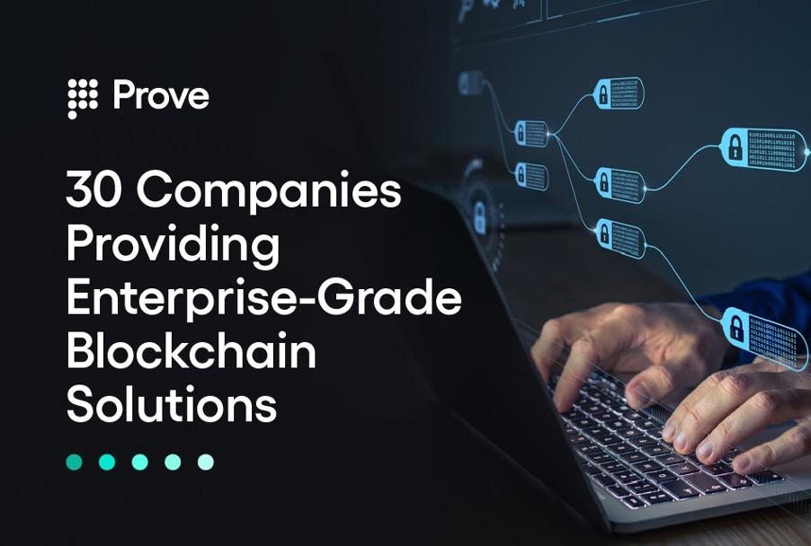 30 Companies Providing Enterprise-Grade Blockchain Solutions