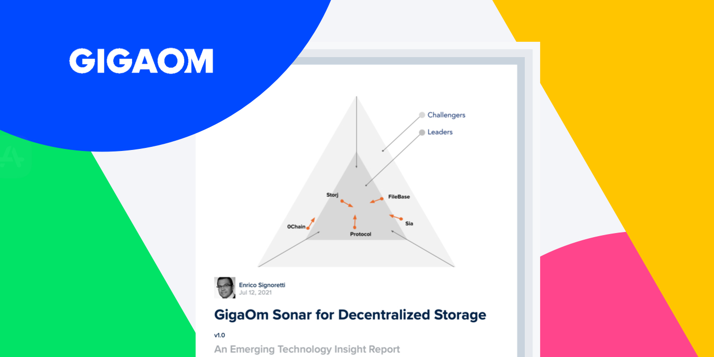 GigaOm Sonar for Decentralized Storage — An Emerging Technology Insight Report