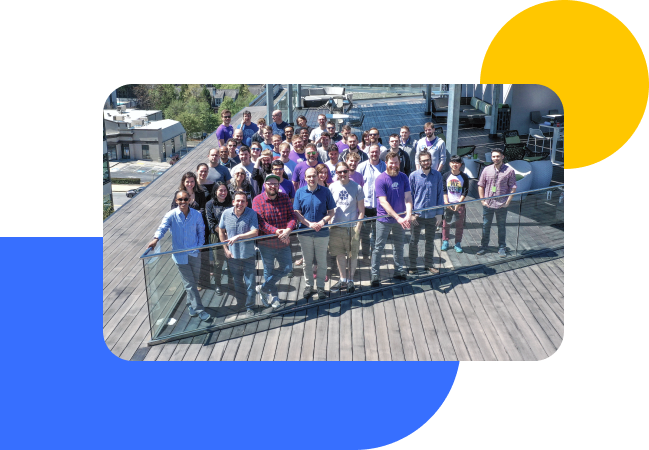 Group photo of the Storj team