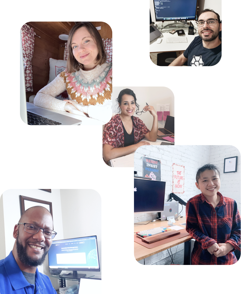 People working from home at Storj