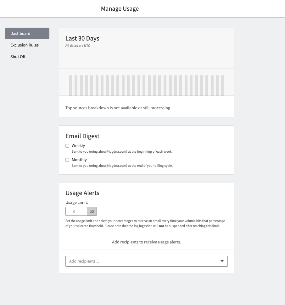 Get alert Insights in your email digest with LogDNA Alerts.