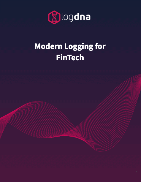LogDNA Modern Logging for FinTech Cover