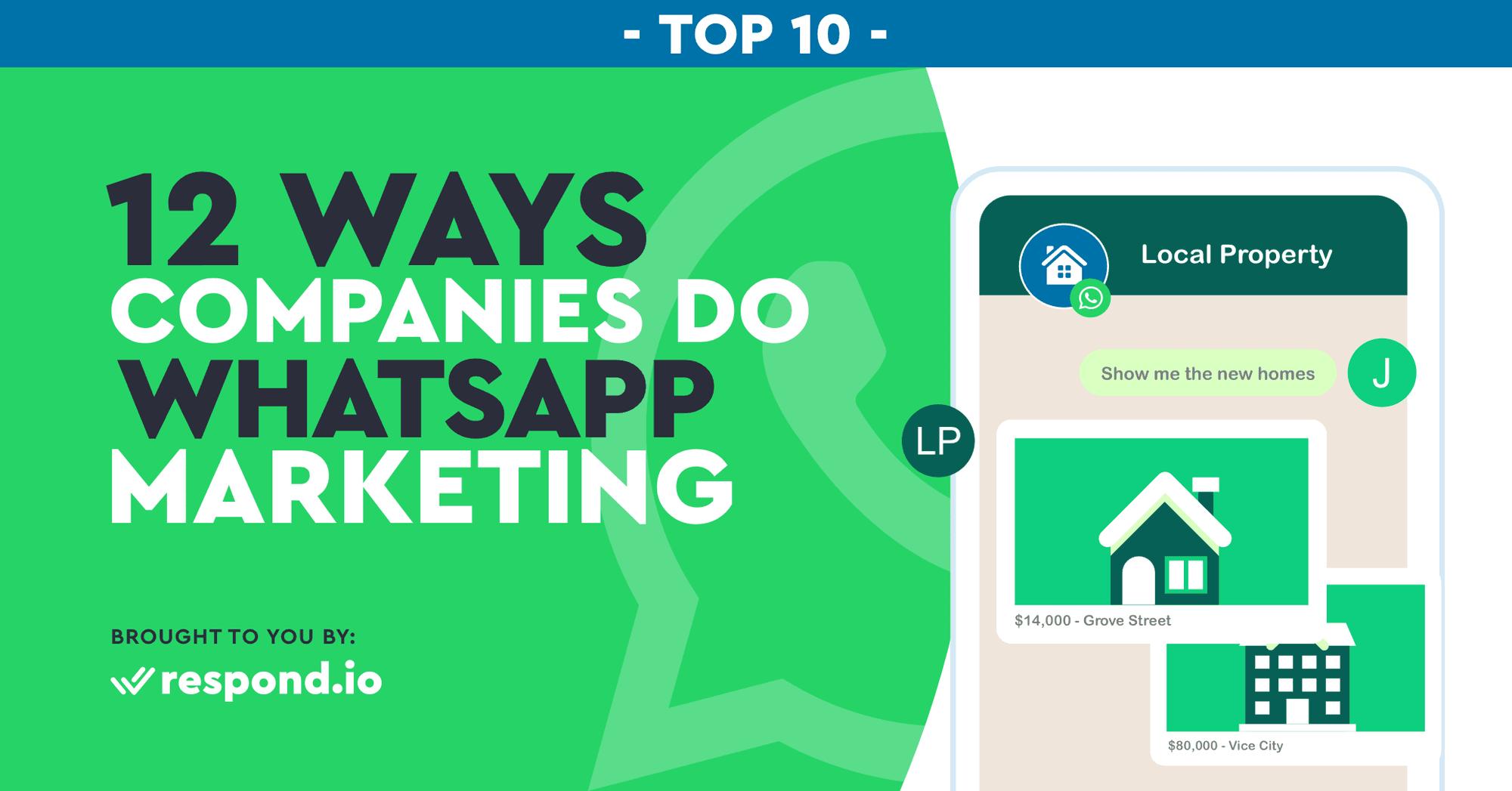 12 Ways Companies Do Whatsapp Marketing Campaigns (Nov 2020)