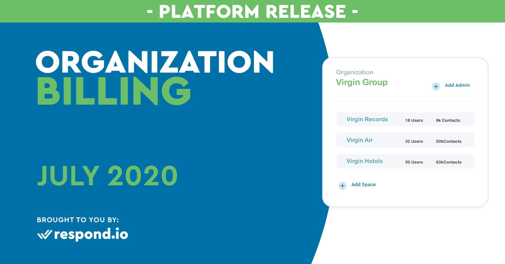 The July 2020 Release - Organizational Billing