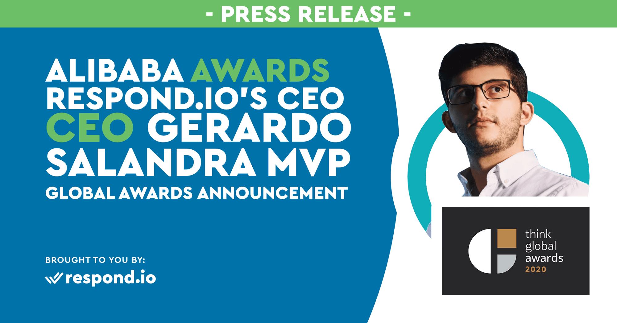 Alibaba Awards Rocketbots' CEO Gerardo Salandra MVP in Global Awards Announcement