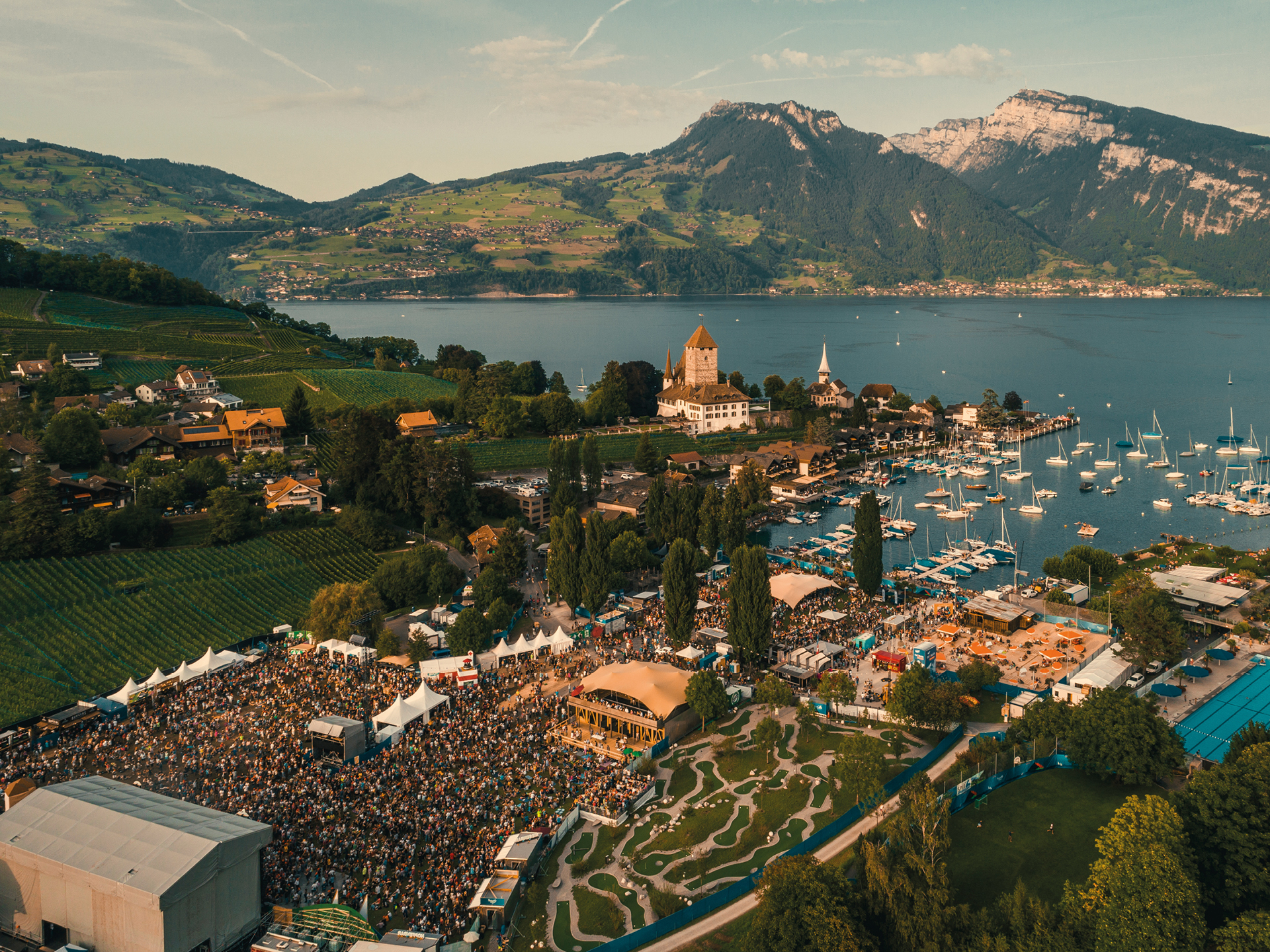 Spiez Bay and Lake Thun from above