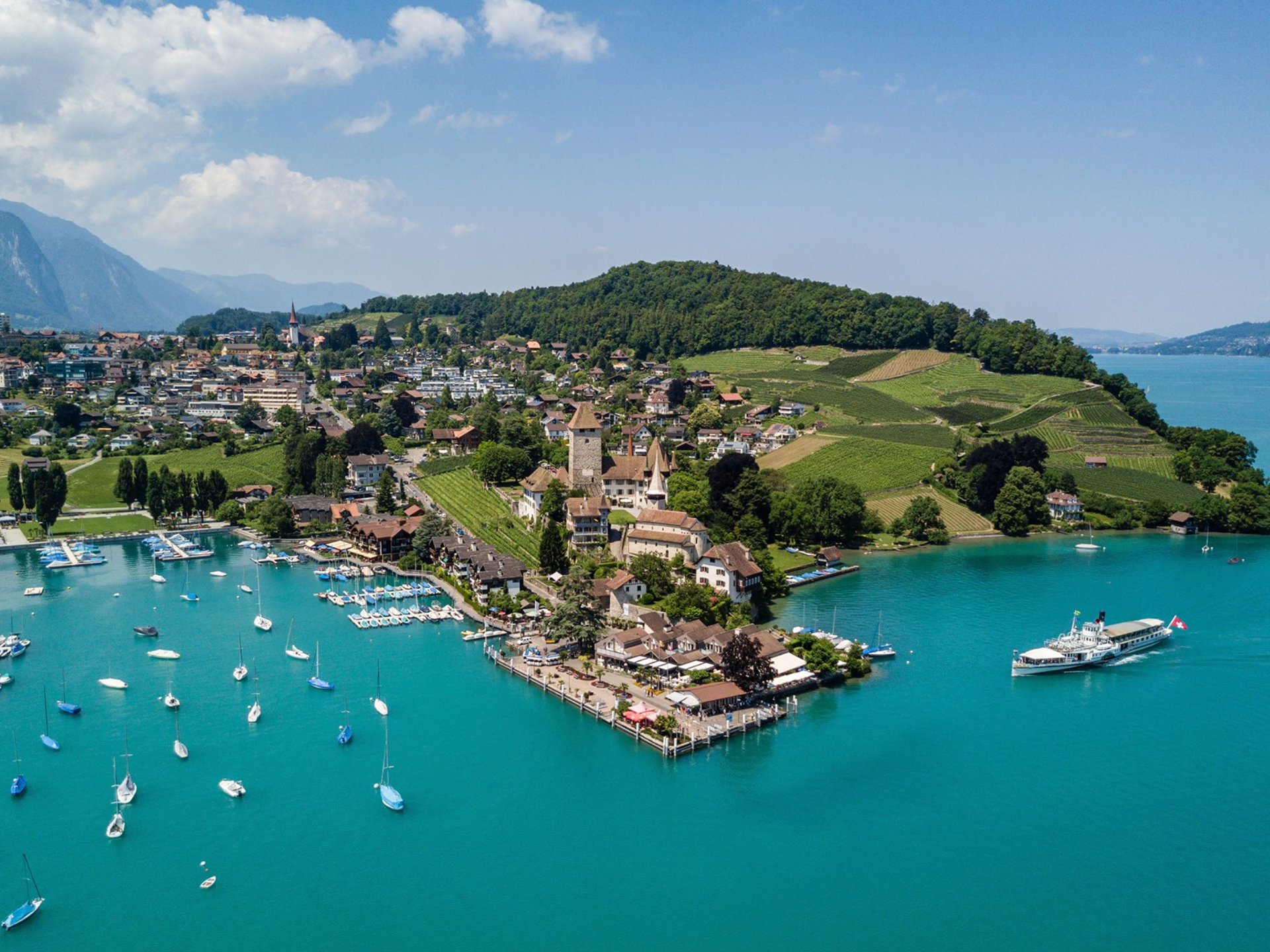 Lake Thun from above