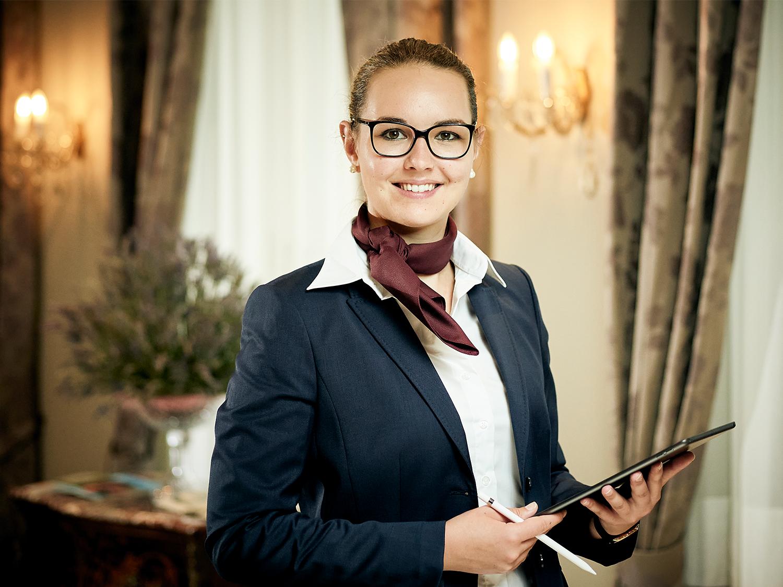 Lisa Lauener, chef de la réception du Belvedere Strandhotel