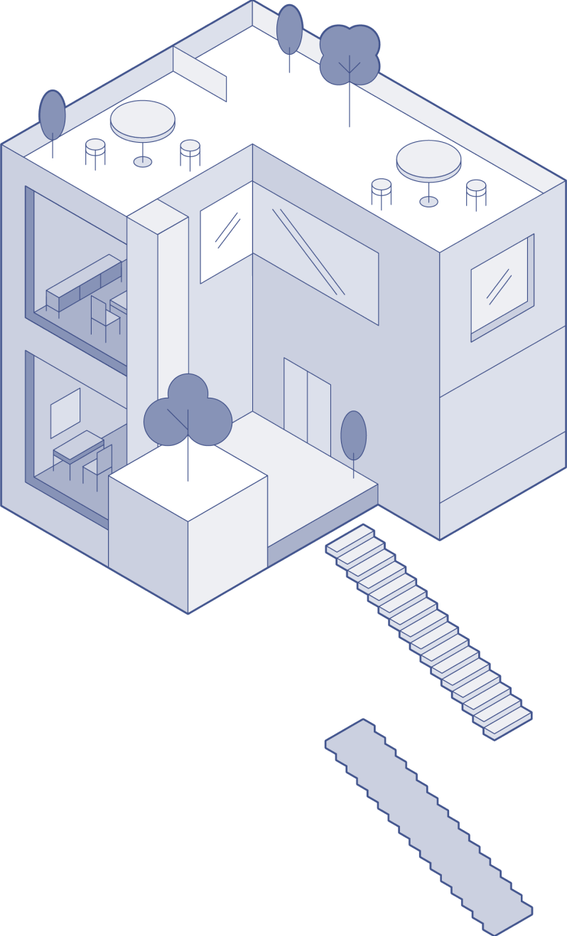 An illustration of a building