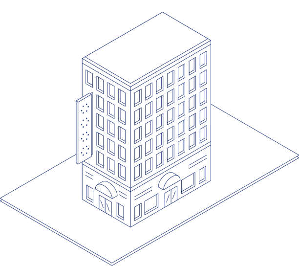 And illustration of a hotel