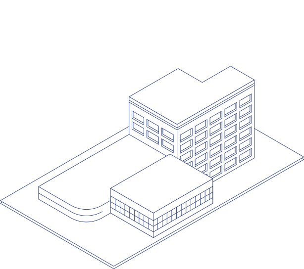 An illustration of a hotel