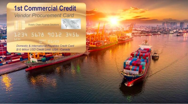 tarjeta de adquisición del programa de crédito del proveedor