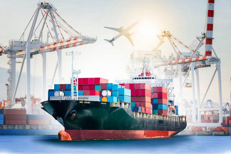 Distribución de exportación de fletes de transporte
