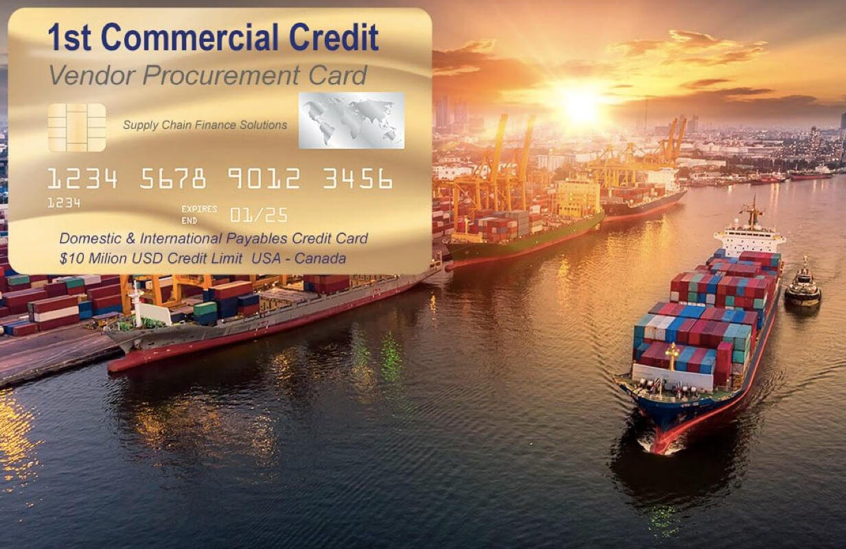 Tarjeta de crédito de adquisiciones para cuentas a pagar comerciales