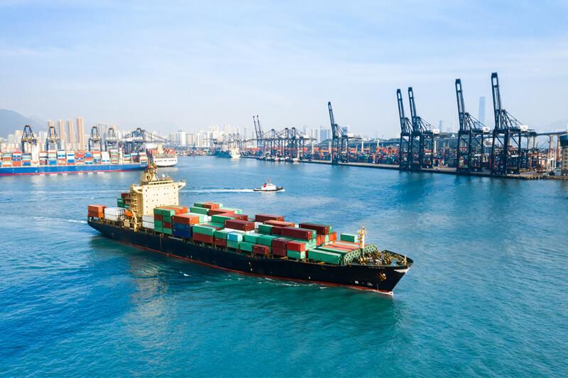 exportación de contenedores de carga