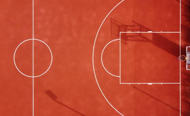 basketball court aerial shot