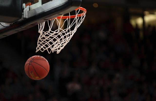 basketball net and ball