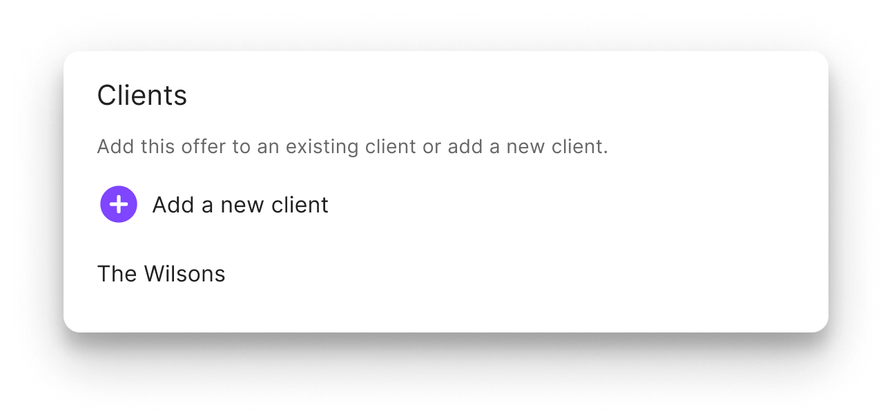 add clients in the jointly offer management platform