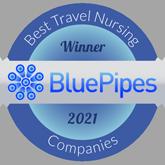 BluePipes Best Travel Nursing Companies Winner (2020)