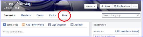 Travel Nurse Facebook Group Files