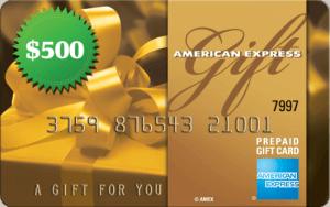 $500 Amex Gift Card