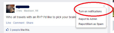 Travel Nursing Facebook Group Notifications