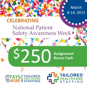 celebrating National patient safety week