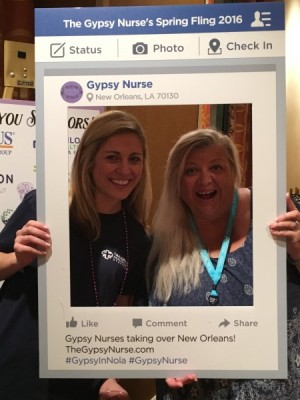 Recruiters holding Gypsy Facebook placard