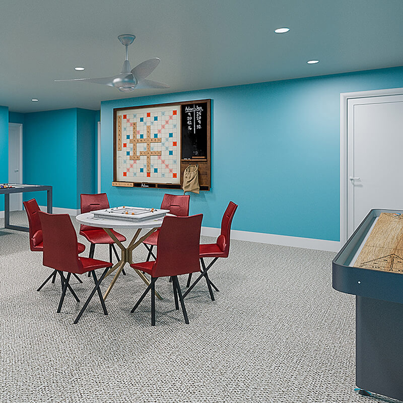 Clubhouse and game room