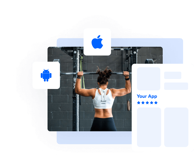 an example of the PushPress branded gym member app
