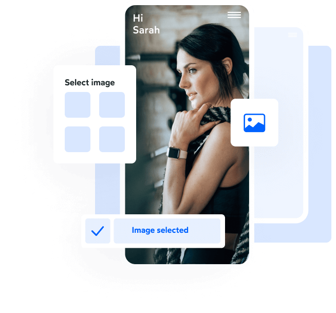 loading screen and info about PushPress branded gym member app