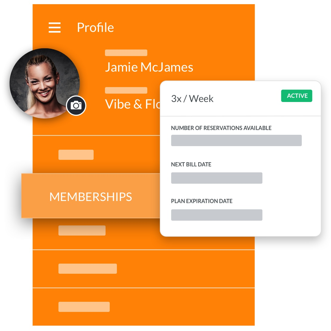 yoga studio software member profile management