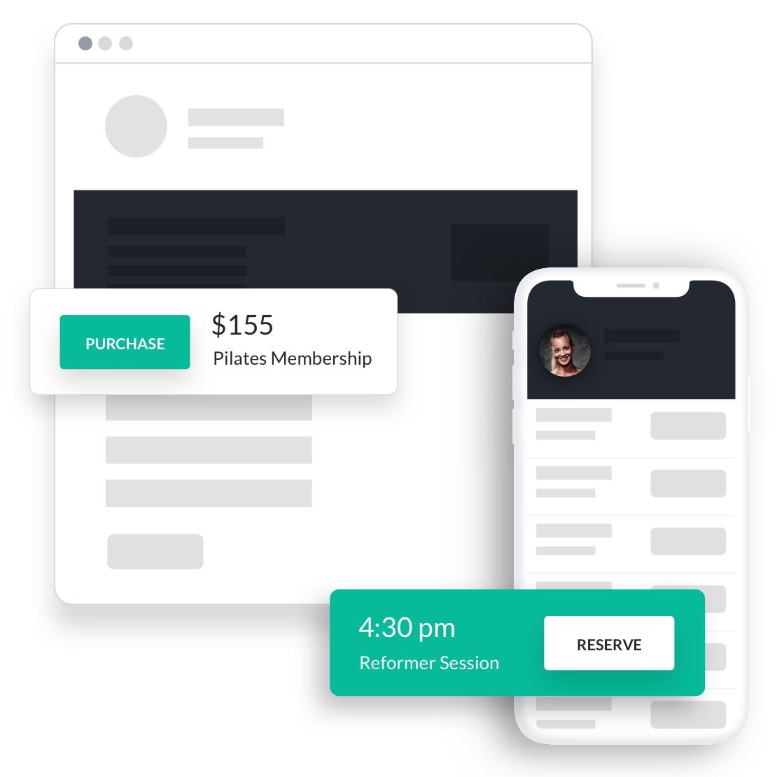 pilates studio software online purchase reserve