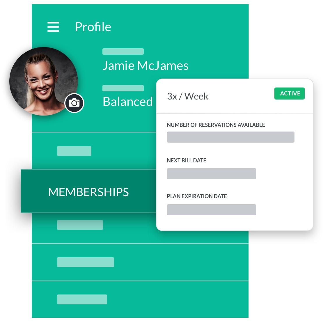 pilates studio software member profile management