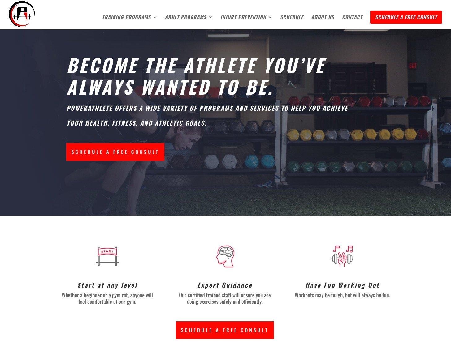 PowerAthlete Homepage After