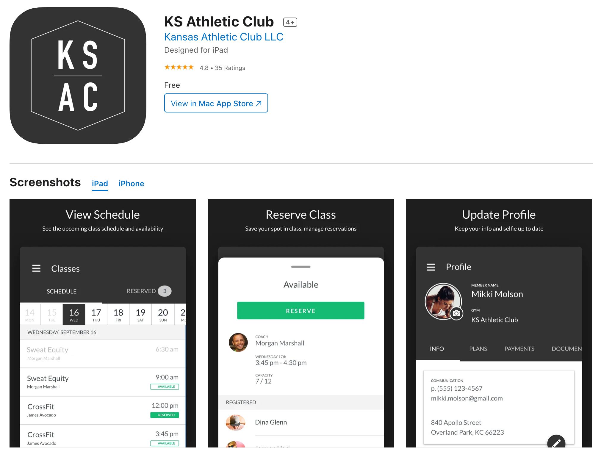 PushPress Branded Member App Store Listing